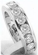4 ct Round Diamond Channel set Eternity Ring Platinum Band  Size 5, G VS/SI1