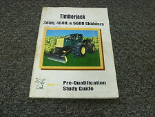 Timberjack 360D 460D 560D Skidders Loader Cable Grapple Shop Manual Study Guide