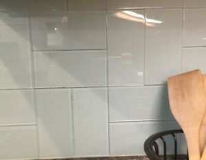 32x Peel and Stick Backsplash Glass Tile for Kitchen Bathroom Subway White Tiles