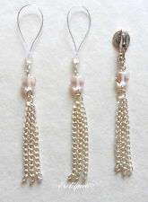 Erotique6 Non Piercing Rosaline Nipple Dangles & Clit Clip Czech Glass Hearts