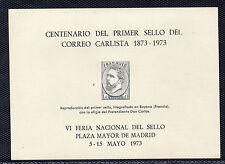 España Centenario 1º Sello Correo Carlista de 1873 año 1973 (CI-120)