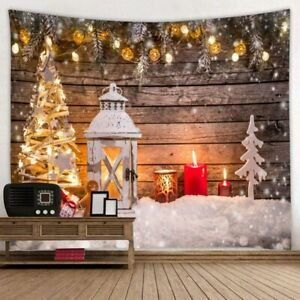 Christmas Tapestry Wall Hanging Background Cloth Home Decor Bedspread Carpet