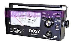 Dosy TR2000 Remote Mount 2,000 Watt SWR/Mod/Watt Meter
