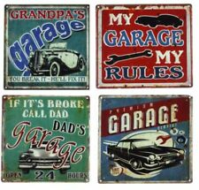 Plaque murale en métal pour la décoration du Garage