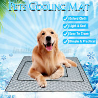Pet Dog Cooling Mat Non-Toxic Cool Pad Pet Bed For Summer Dog Cat Puppy  ❀ Z̶