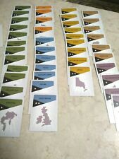 RISK Board Game 2008 - Replacement Pieces Parts - 42 COUNTRY CARD COMPLETE SET