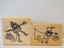 Stampendous CHANGITO Rubber stamps Halloween Mummy Vampire Monkey NEW