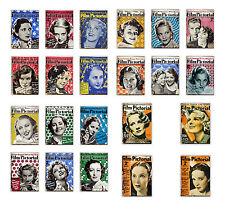 1935 Film Pictorial 38 Magazine Covers Bette Davis Shirley Temple Shearer Cinema