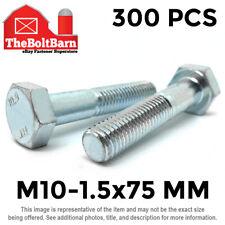 New listing 300 Pcs M10-1.5x75 Mm Hex Cap Screws Class 10.9 Metric Grade Hex Bolts Zinc