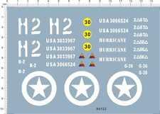 1/16 1/18 WWII us sherman tank h2 Model Kit Water Decal