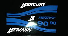 Mercury Outboard 90 HP Decal Kit,  Mercury outboard Blue Decal set