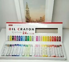 DAISO JAPAN 24 colors Oil Crayon High Quality Drawing Painting