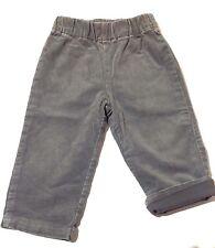 Pantalon velours gris 12 Mois Ceinture élastique TEXBABY Très Bon Etat