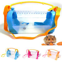 Portable Pet Hamster House Travel Carrier Plastic Small Animal Dwarf Cage House