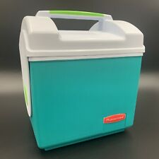 Rubbermaid Vintage  Lunch Box I Cooler Sidekick #2920 Teal & Lime