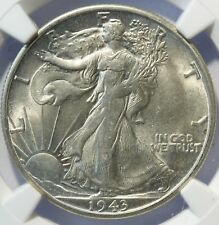 1943 S WALKING LIBERTY HALF, NGC MS62, FULL WHITE SURFACES, SUPER SHARP, CLEAN!