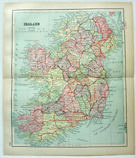 Ireland - Original 1895 Map by Dodd Mead & Company. Antique