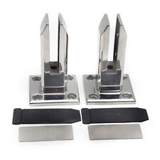 2X Stair handrail Glass Spigots Pool Fence Frameless Balustrade Post Clamp Good