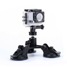 Car Triple Low Angle Suction Cup Mount Holder Bracket+Ball Head for Gopro 2 3+ 4