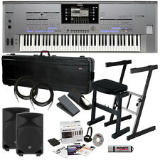 Yamaha Tyros5-76 Arranger Workstation Keyboard COMPLETE STAGE BUNDLE