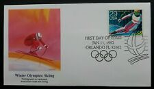 USA  First Day Cover issue 1992 - Winter Olympics.