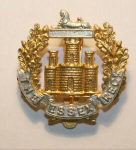 World War II Bi-metal Cap Badge, Essex Regiment, Excellent Condition