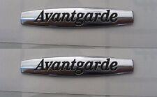 2X Avantgarde Letter Sticker Side Fender Badge Emblem FOR MERCEDES BENZ
