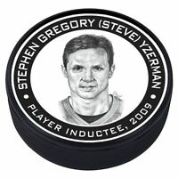 Steve Yzerman Detroit Red Wings 2009 Hall of Fame Induction 3D Textured Puck