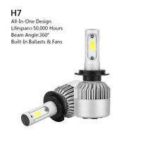 2P H7 All-in-One LED Lámpara Faro Kit 72W 8000LM COB Bulbo 6000K Blanco ESP
