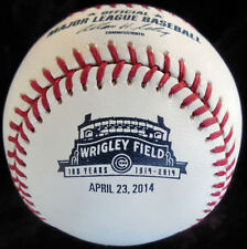 RAWLINGS 2014 CUBS DATED 4-23-2014 WRIGLEY FIELD 100TH ANNIVERSARY BASEBALL