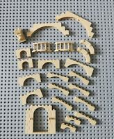 Lego Burg Festung Castle Ritter Harry Potter Bogen Sonder Steine Beige 23 Tl (0)