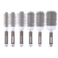 Pro Hair Dressing Brush High Temperature Resistant Ceramic Iron Round Comb