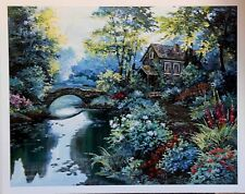 Garden Inspriation by Richard King Villa Stone Bridge Open Edition 22x28 Paper