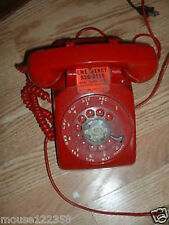 Vintage Retro Rotary Dial table telephone Red stromberg