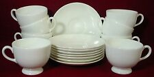 Wedgwood china Wedgwood White pattern Cup & Saucer Leigh Set Of Eight (8)