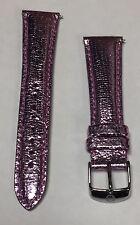 Michele 20mm Light Purple Leather Snake Watch Band Bracelet MS20AB060541 NEW