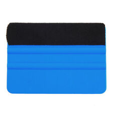 1*Blue Car Soft Decal Wrap Applicator Vinyl Plastic Squeegee Felt Edge Scraper