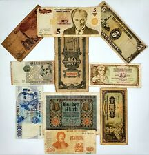 Lot of 10 World Banknotes Collection Auction From 1$