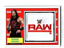 WWE Roman Reigns 2017 Topps Heritage Raw Com Patch Relic Card SN 24 of 299