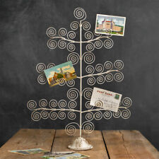 "Whimsical Photo Tree - Painted & Distressed Metal in Ivory 26"" H x 19"" W Display"