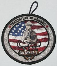 Transatlantic Council (Germany) 2013 Wood Badge N6-802-13-1 Pocket Patch  BSA