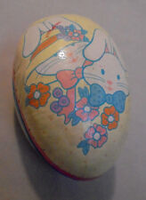 "Easter Egg, Mr. & Mrs, Bunny, Flowers, Applause Ca., Paper 4.5"" Long 3.25"" Tall"