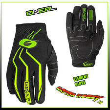GUANTO GLOVE CROSS ENDURO QUAD O'NEAL ONEAL ELEMENT NERO GIALLO FLUO TAGLIA M