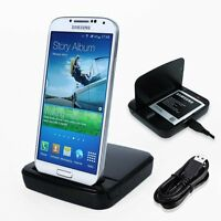 Duo Slot CHARGER for Samsung GALAXY S4 S IV phone charge and battery FlyP