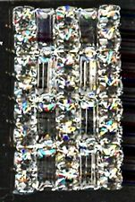 RECTANGLE PRONGED RHINESTONE & BAGGET BUTTON - R10