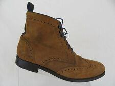 RYE 51 Suede Wingtip Goodyear Welted Brown Sz 9.5 M Men Dress Boots