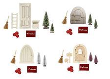 Wichteltür Set mit Wichtel Zubehör, Miniatur Möbel für Minigarten Puppenhaus