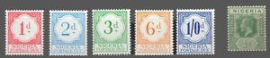 Nigeria   Sc. #J6-J10 with #1 MLH  Postage Due & King George V  1961 & 1914-27