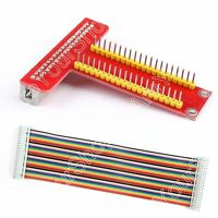 T Type GPIO Extension Board + 40Pin Signal Ribbon Flat Cable For Raspberry Pi B+