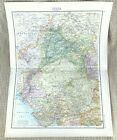 Antique Map of India Rajput Sind Province Jaipur Lahore British Empire Raj 1893